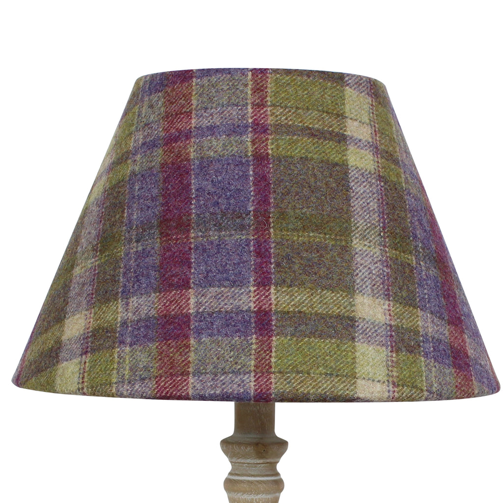 Gosford Grape Wool Checked Coolie Lampshade