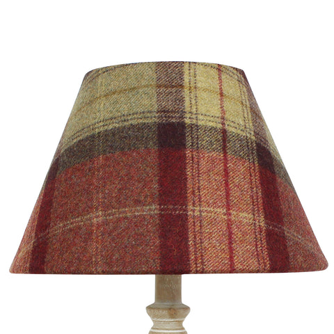 Almandine Skye Wool Checked Coolie Lampshade
