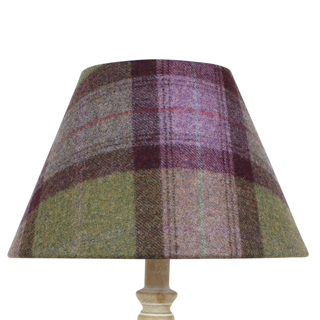 Mystic Quartz Skye Wool Checked Coolie Lampshade