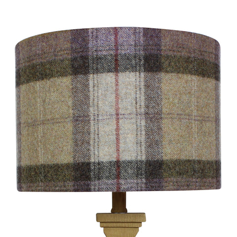 Moonstone Skye Wool Checked Drum Lampshade