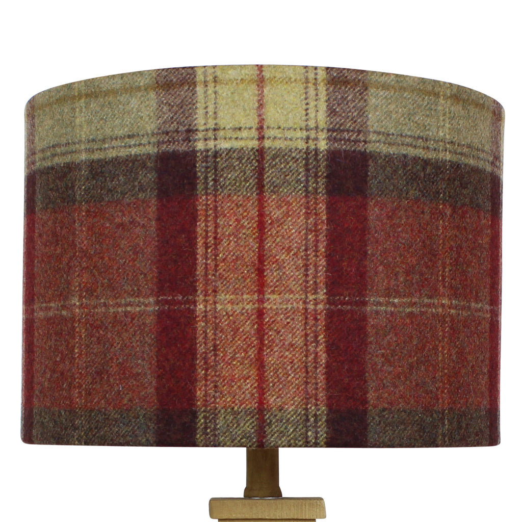 Almandine Skye Wool Checked Drum Lampshade