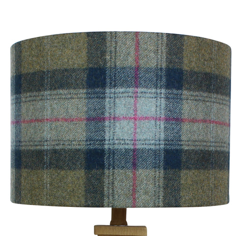 Olivine Skye Wool Checked Drum Lampshade
