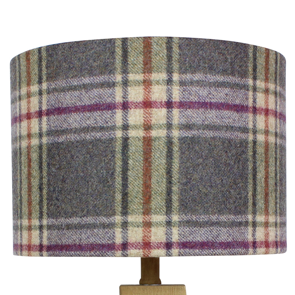 Charoite Arncliffe Wool Checked Drum Lampshade