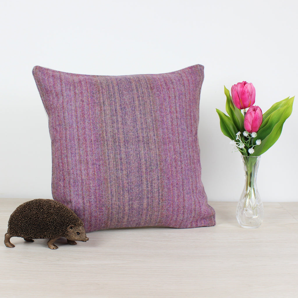 Tioram Grape Tweed Wool Cushion