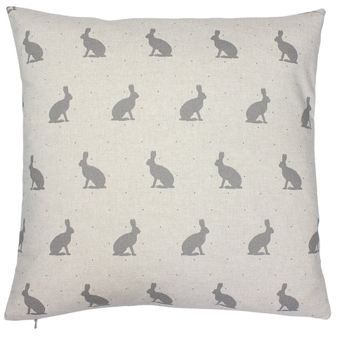 Grey Hare Cushion Cover