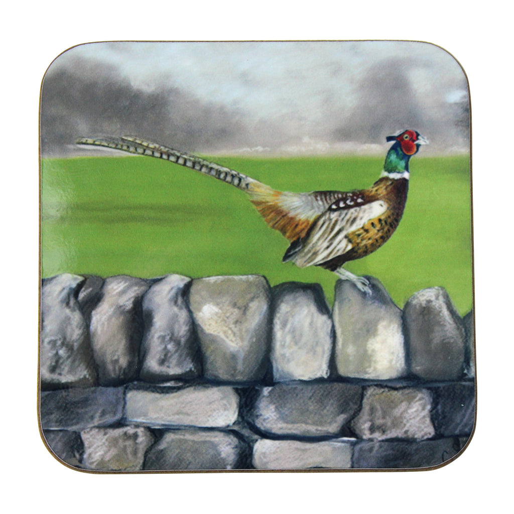 Pheasant on the Wall Coaster