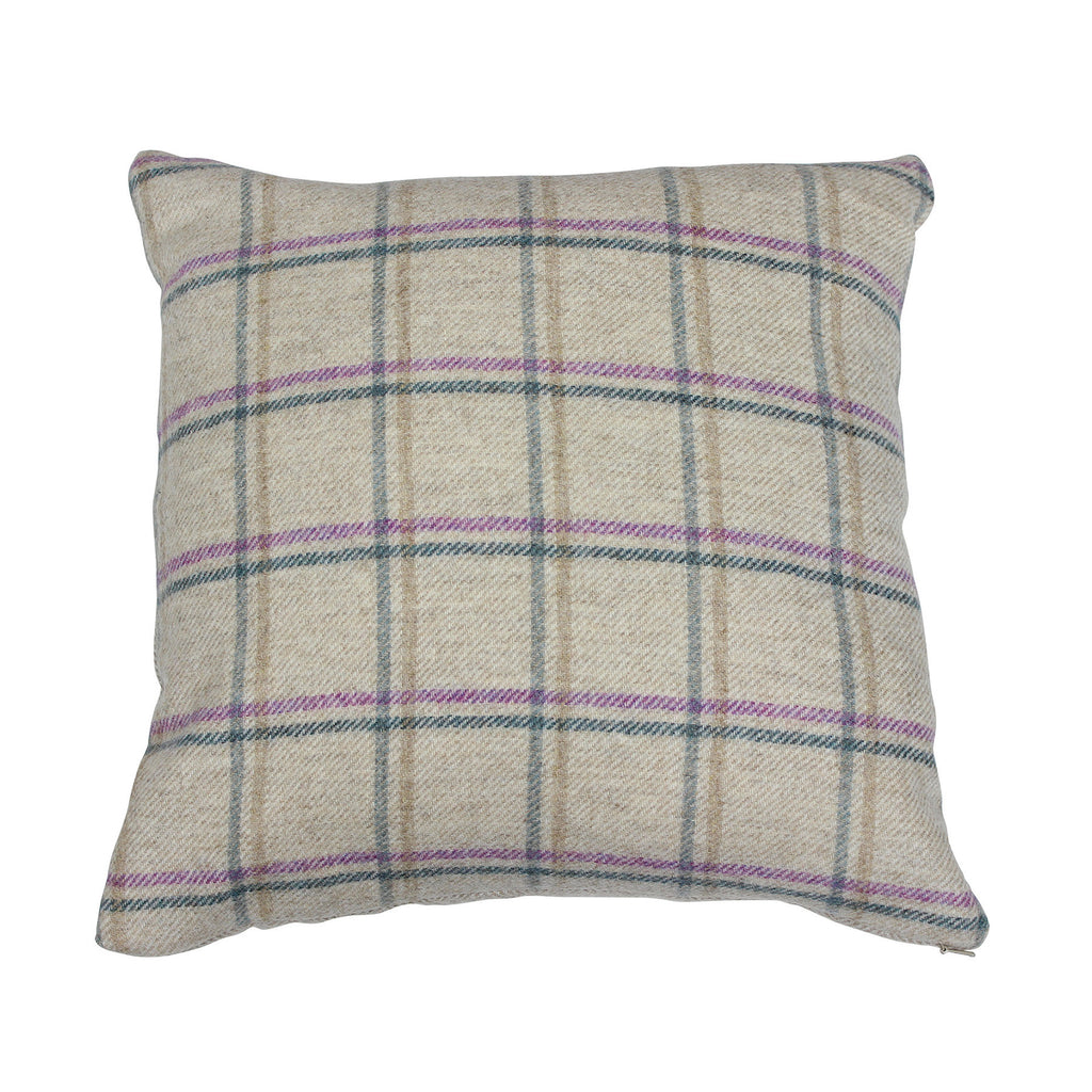 Lilac Duisdale Tweed Wool Cushion