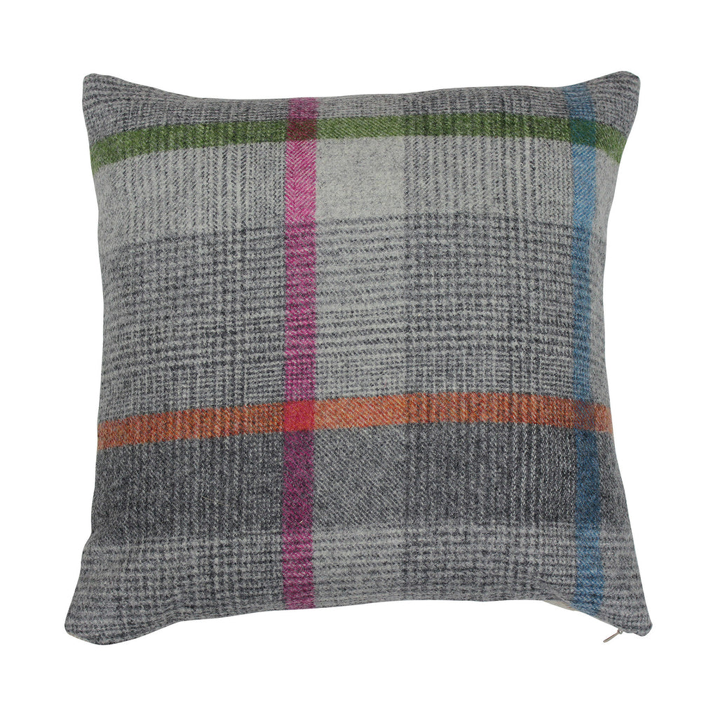 Malham Grey Tweed Wool Cushion