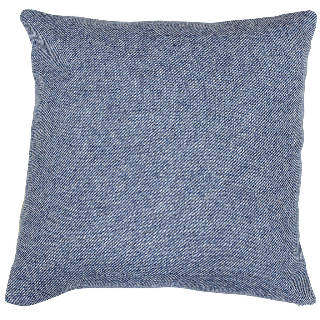Denim Boath Tweed Wool Cushion