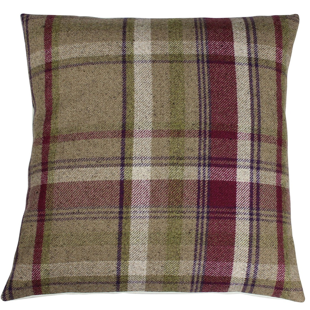 Heather Elgin Skye Checked Cushion