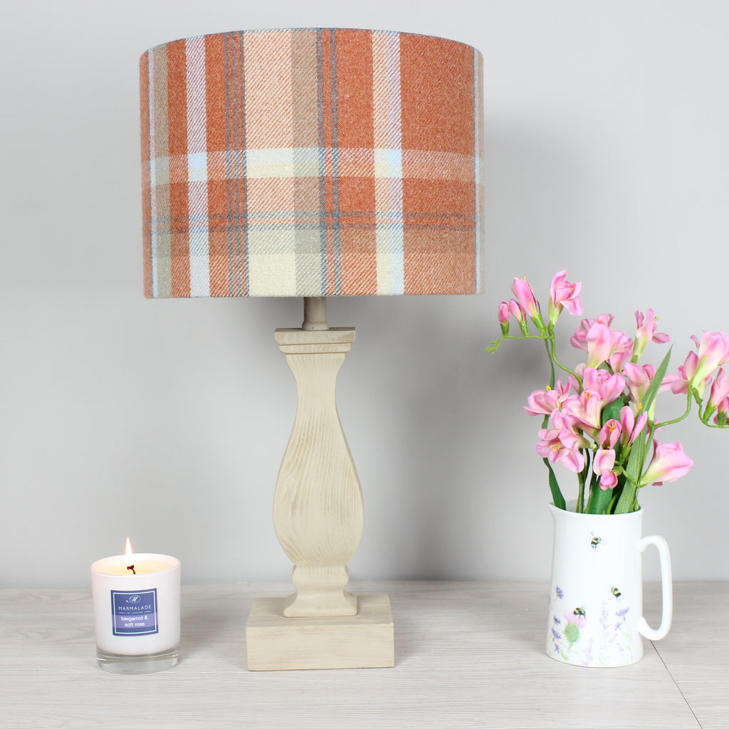 Autumn Elgin Skye Check Drum Lampshade