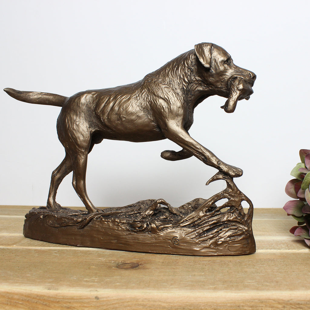 Labrador Retrieving Duck Frith Bronze Sculpture