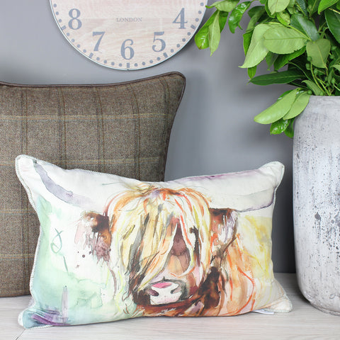 Bruce Highland Cow Voyage Maison Cushion
