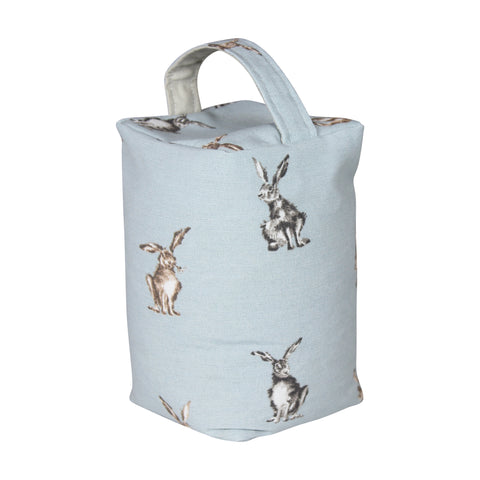 Grey Shabby Hare Door Stop