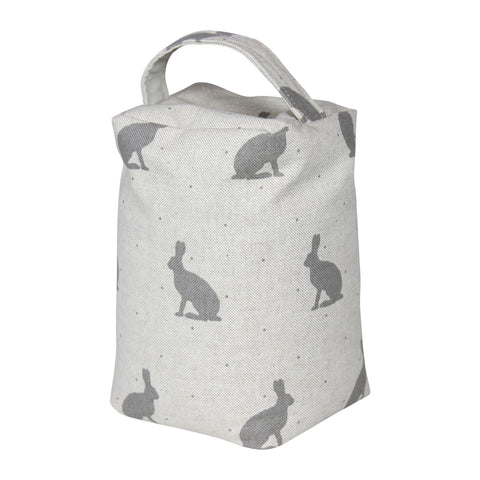 Grey Hare Door Stop