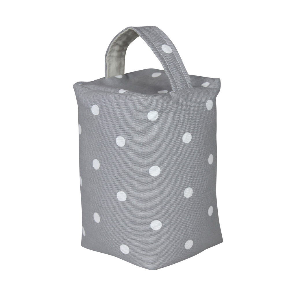Dotty Smoke Grey Door Stop