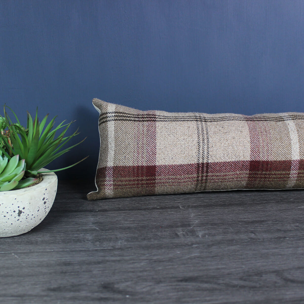 Balmoral Mulberry Tartan Draught Excluder