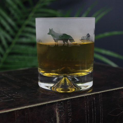 Fox Whisky Glass Tumbler