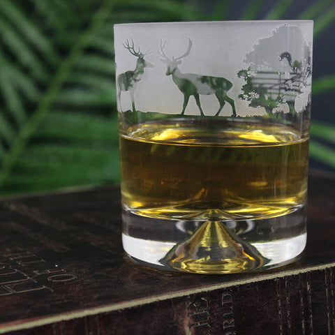 Woodland Whisky Glass Tumbler