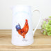 Rooster Cockerel Large White Jug