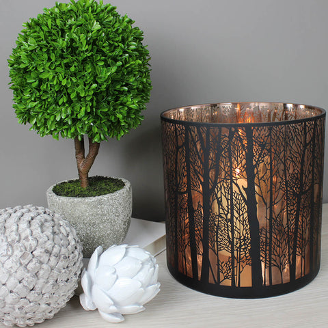 Large Copper Forest Candleholder