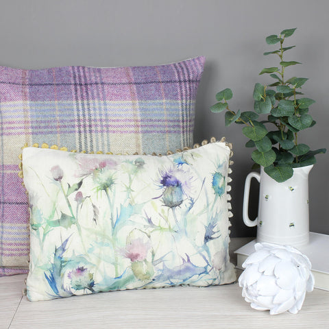 Damson Bristle Thistle Voyage Maison Cushion Mini Arthouse