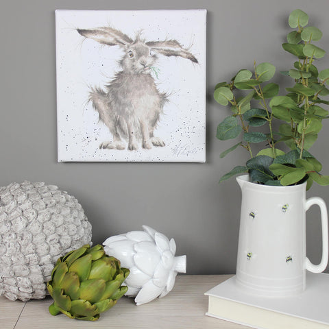 Hare Brained 20cm Canvas Print