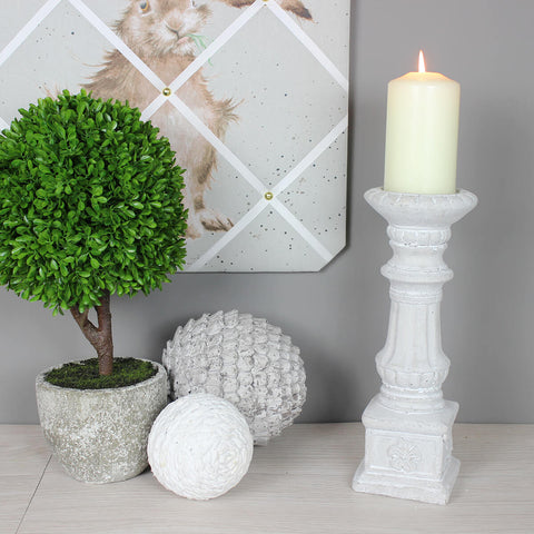 Medium Stone Candle Stick