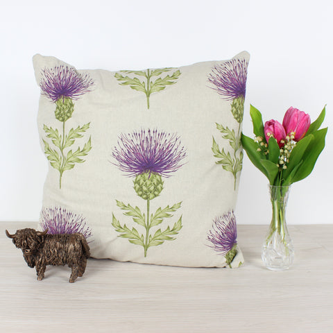 Damson Voyage Blair Thistle Cushion
