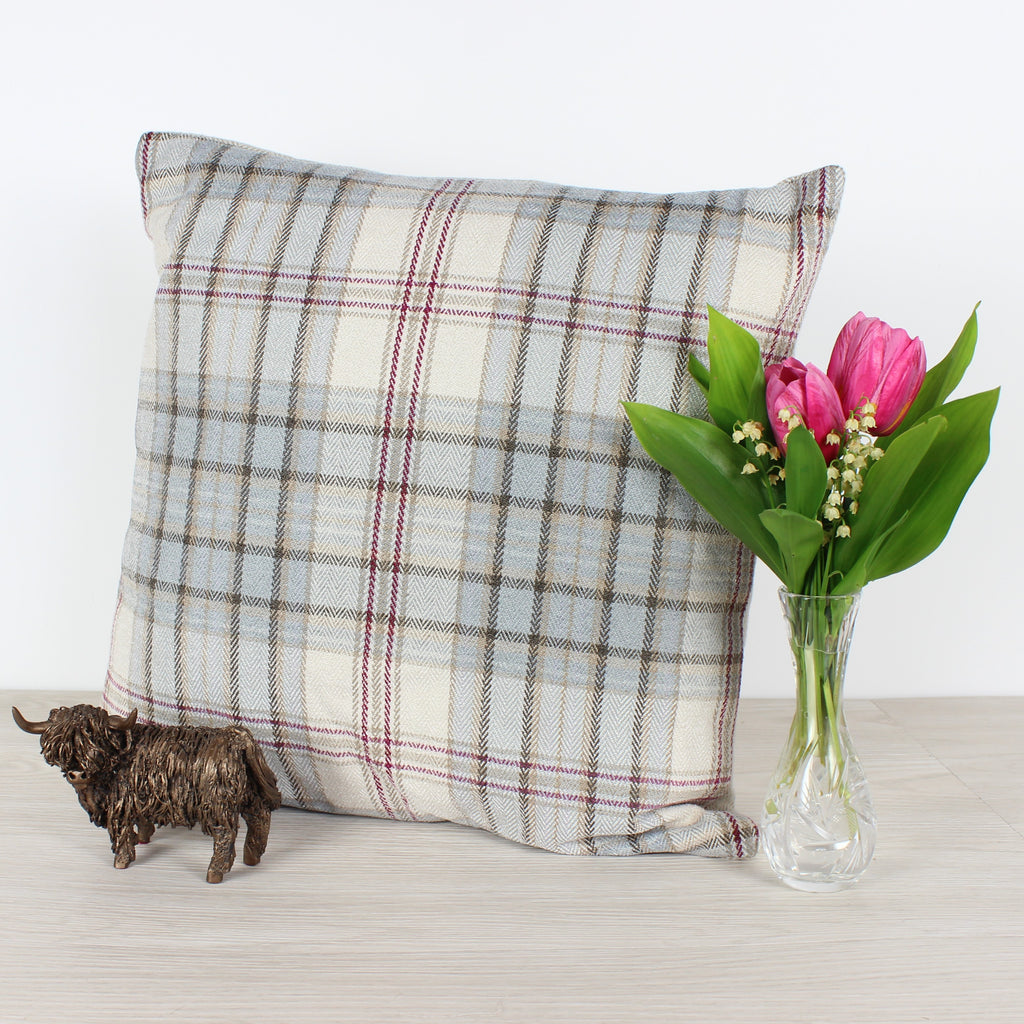 Smoke Voyage Lythmore Checked Cushion