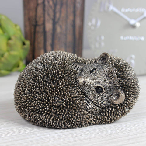 Spike Resting Hedgehog Frith Bronze Sculpture