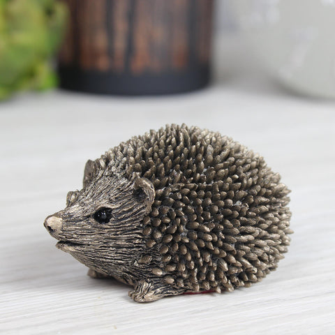 Prickly Hoglet Hedgehog Frith Bronze Sculpture
