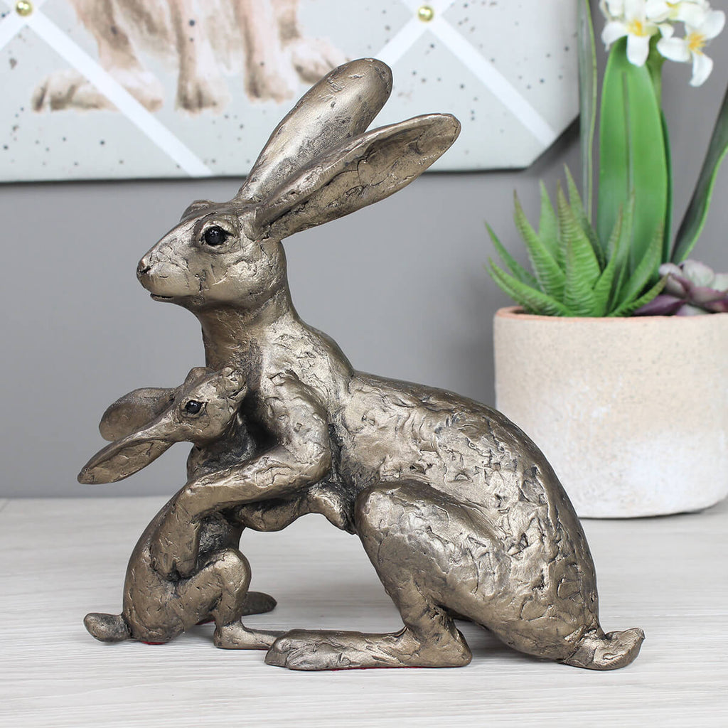 Tulip & Thimble Hare Frith Bronze Sculpture