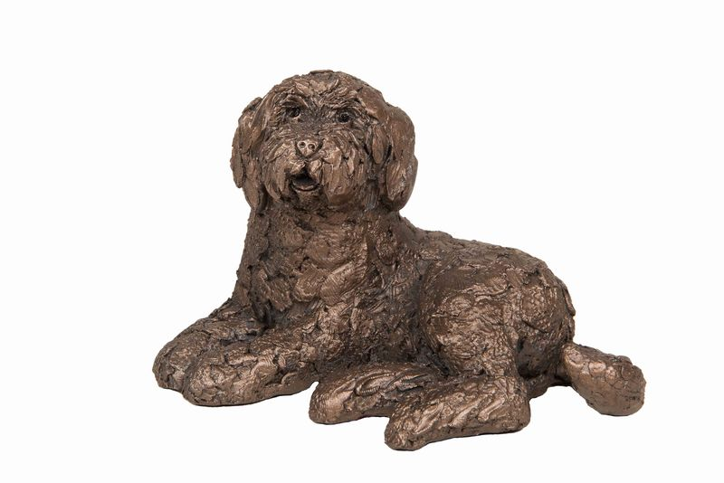 Koko Lying Labradoodle Frith Bronze Sculpture
