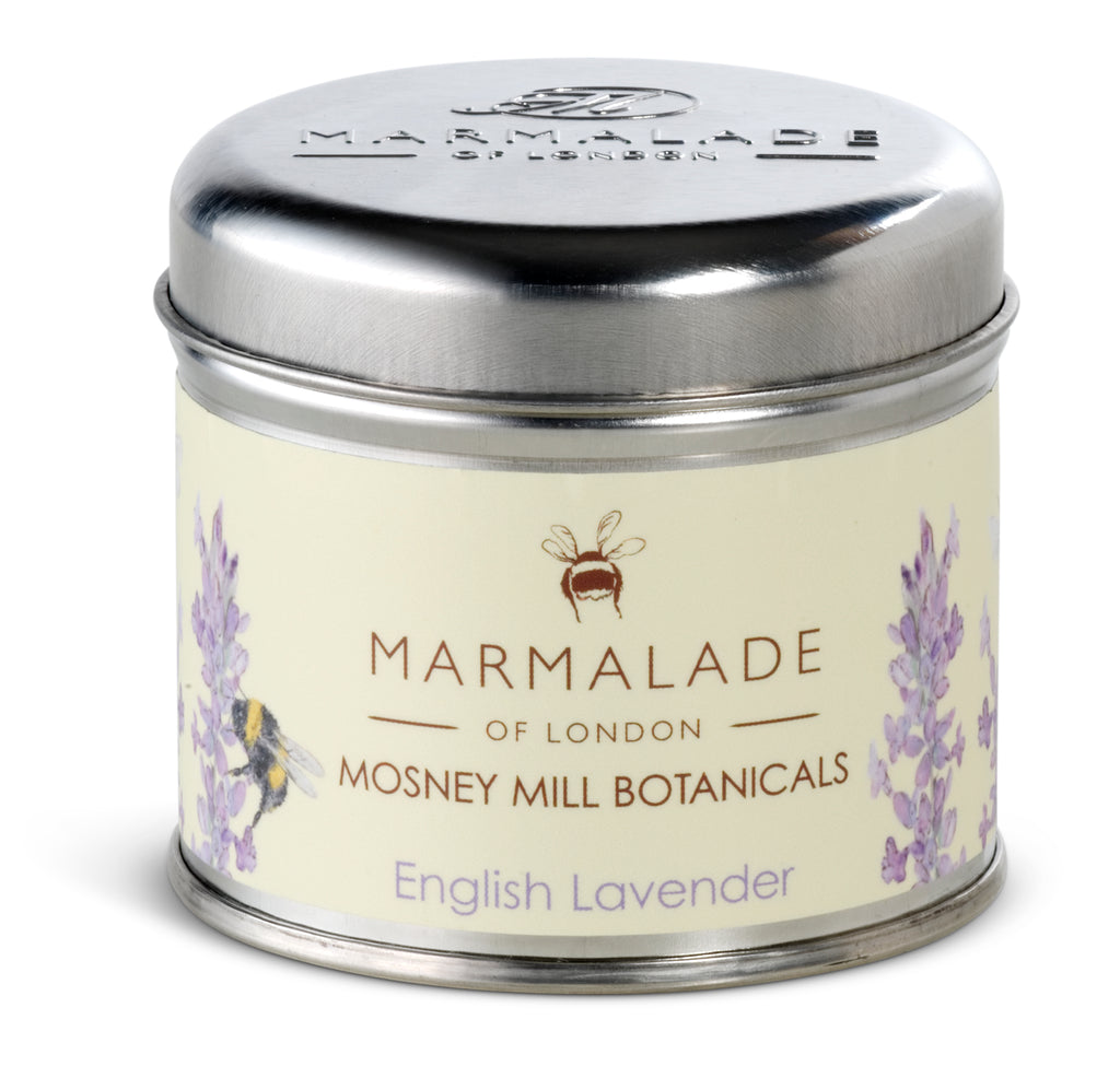 Marmalade of London Mosney Mill Botanicals English Lavender Medium Tin Candle