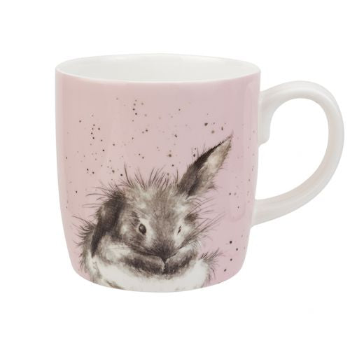 Pink Bathtime Rabbit Large Mug - Wrendale Designs