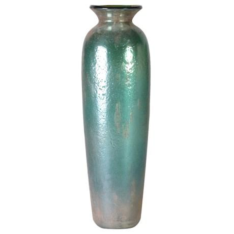 Medium Green Metallic Vase