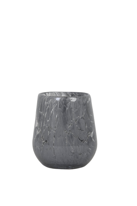 Sylas Grey Glass Tealight Holder