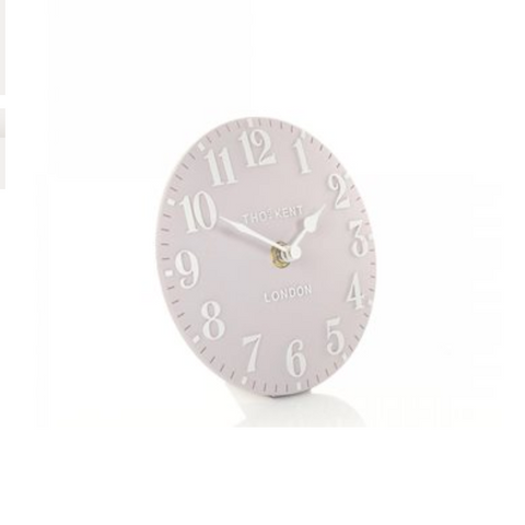 "Thomas Kent 6"" Arabic Dusty Pink Mantel Clock"