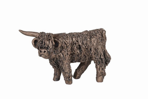 Angus Standing Highland Cow Frith Bronze Sculpture