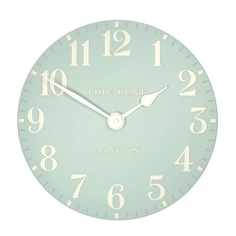 "Thomas Kent 12"" Arabic Duck Egg Wall Clock"
