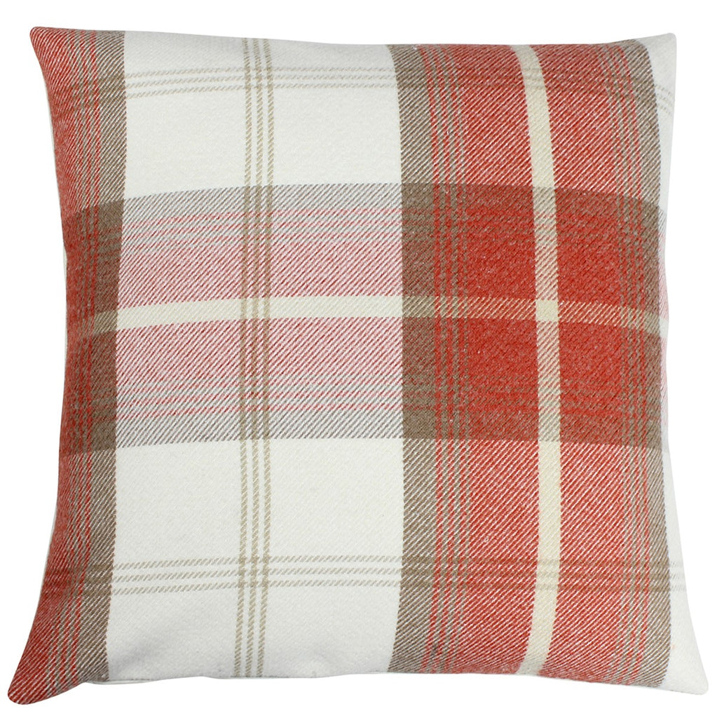 Burnt Orange Balmoral Checked Cushion Cover
