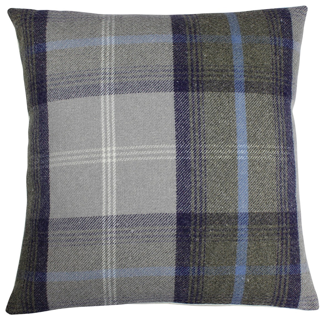Oxford Blue Balmoral Checked Cushion Cover