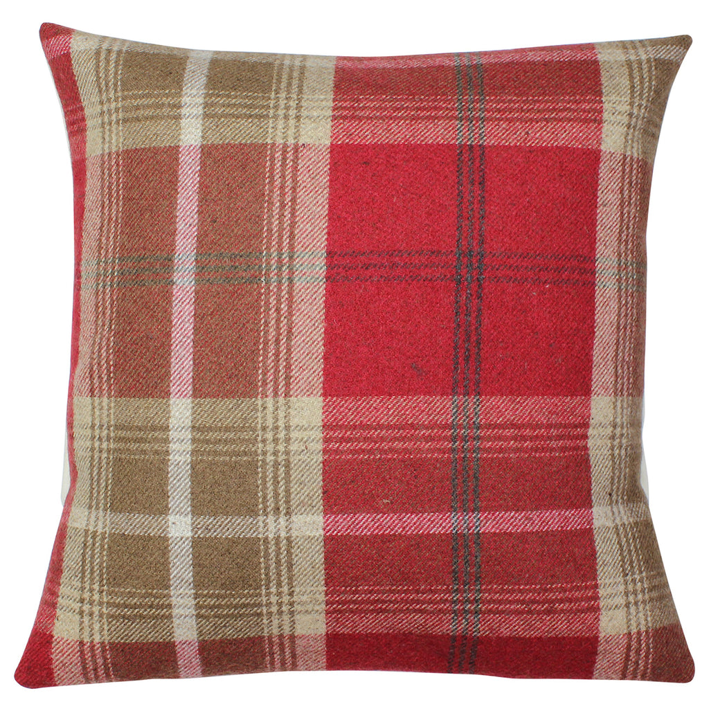 Red Balmoral Checked Cushion Cover
