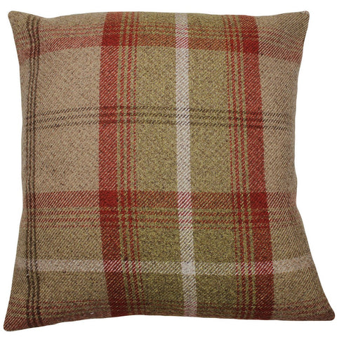 Rust Balmoral Checked Cushion Cover