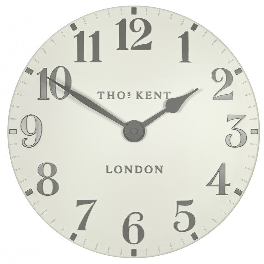 "Thomas Kent 12"" Arabic Double Cream Wall Clock"