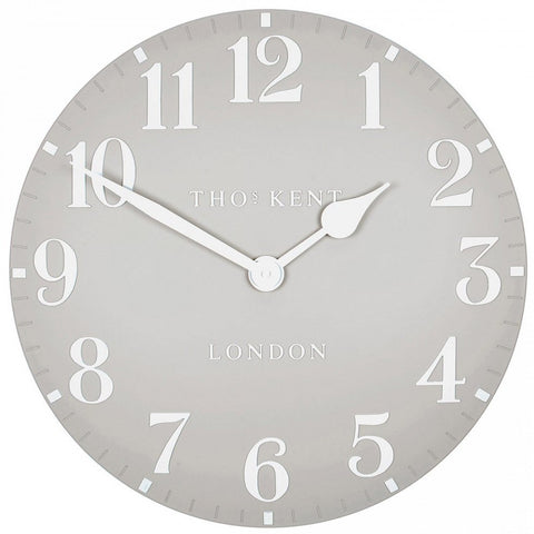 "Thomas Kent 20"" Arabic Dove Grey Wall Clock"