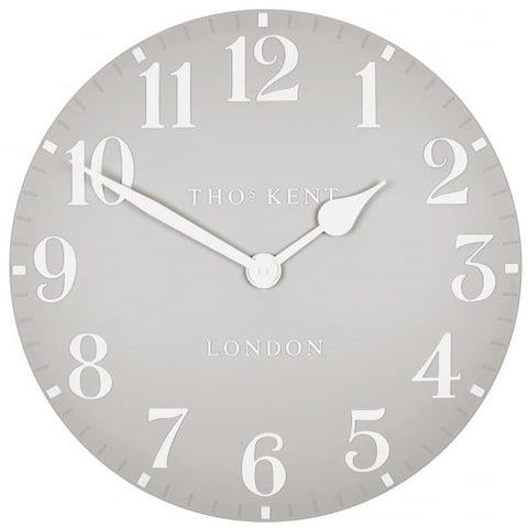 "Thomas Kent 12"" Arabic Dove Grey Wall Clock"
