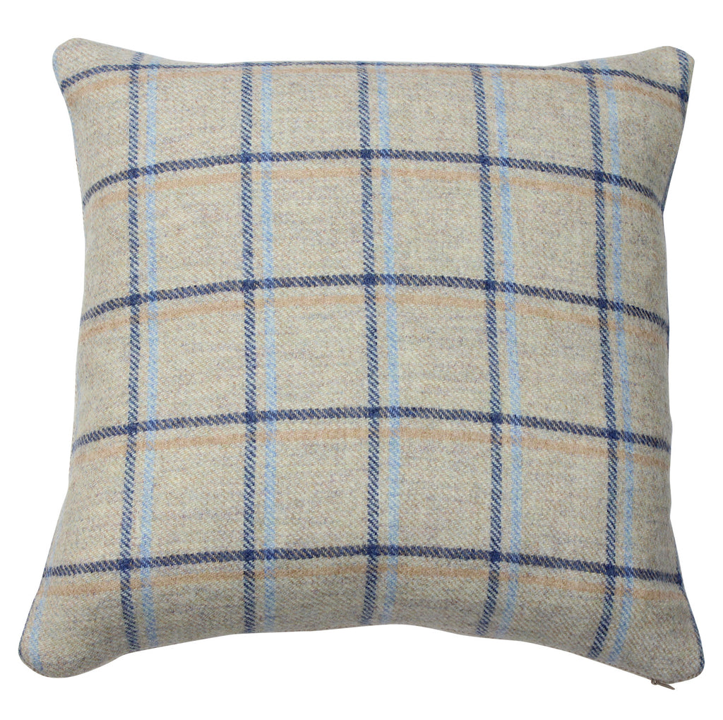 Denim Duisdale Tweed Wool Cushion