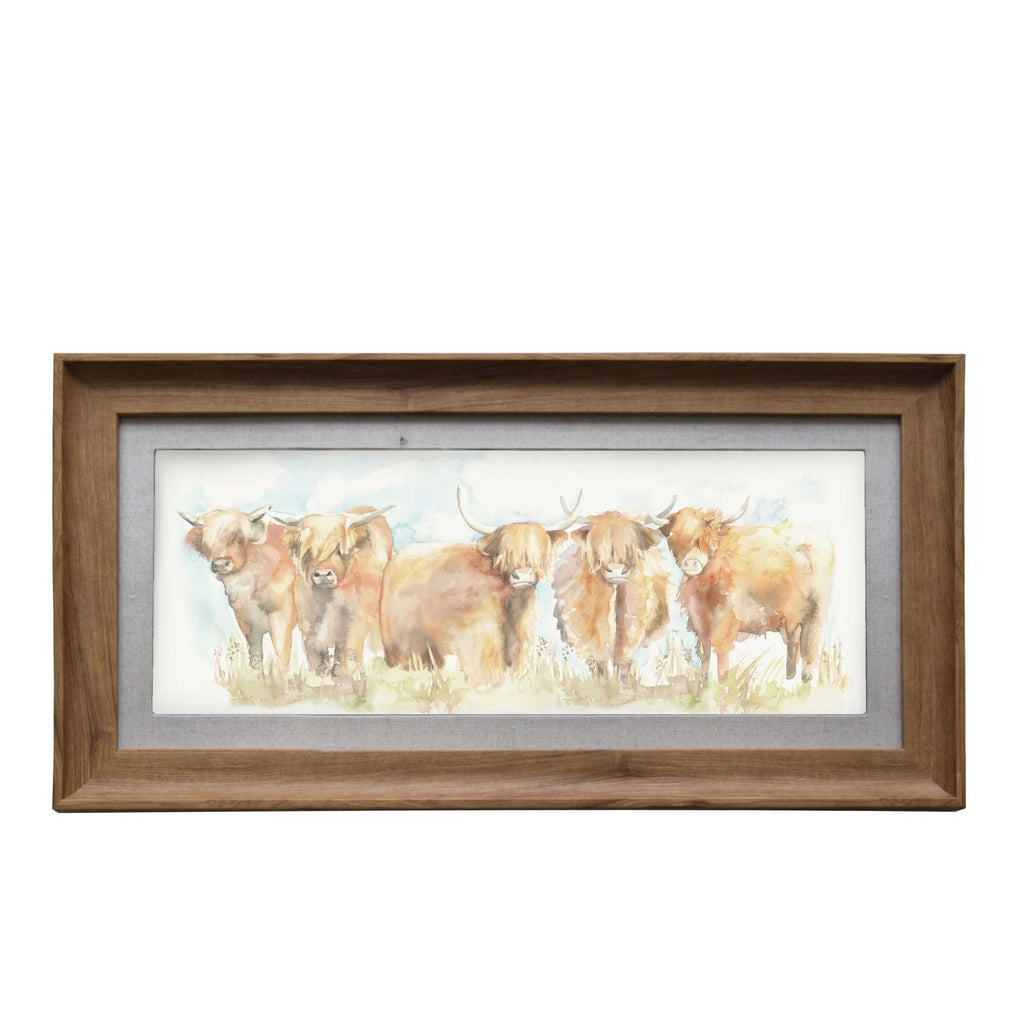 Highland Cattle Picture Voyage Maison Art Honey Frame